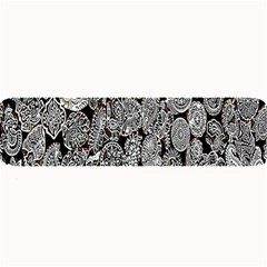 Black And White Art Pattern Historical Large Bar Mats