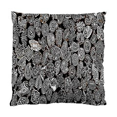Black And White Art Pattern Historical Standard Cushion Case (One Side)