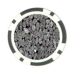 Black And White Art Pattern Historical Poker Chip Card Guard (10 pack)