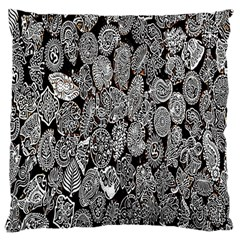Black And White Art Pattern Historical Large Cushion Case (One Side)