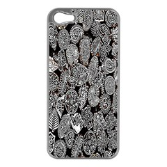 Black And White Art Pattern Historical Apple iPhone 5 Case (Silver)