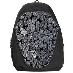 Black And White Art Pattern Historical Backpack Bag