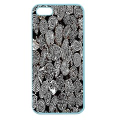Black And White Art Pattern Historical Apple Seamless Iphone 5 Case (color)