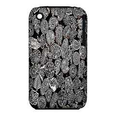 Black And White Art Pattern Historical iPhone 3S/3GS