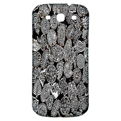 Black And White Art Pattern Historical Samsung Galaxy S3 S Iii Classic Hardshell Back Case