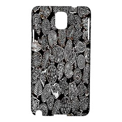 Black And White Art Pattern Historical Samsung Galaxy Note 3 N9005 Hardshell Case