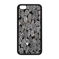 Black And White Art Pattern Historical Apple iPhone 5C Seamless Case (Black)