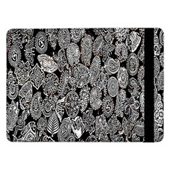 Black And White Art Pattern Historical Samsung Galaxy Tab Pro 12.2  Flip Case