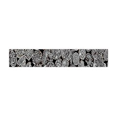 Black And White Art Pattern Historical Flano Scarf (mini)