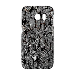 Black And White Art Pattern Historical Galaxy S6 Edge