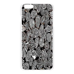 Black And White Art Pattern Historical Apple Seamless iPhone 6 Plus/6S Plus Case (Transparent)