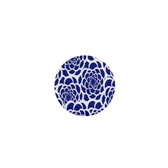 Blue And White Flower Background 1  Mini Buttons