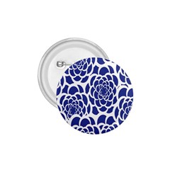 Blue And White Flower Background 1.75  Buttons