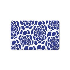 Blue And White Flower Background Magnet (Name Card)