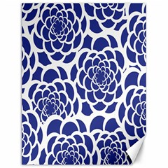 Blue And White Flower Background Canvas 12  x 16