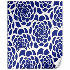 Blue And White Flower Background Canvas 16  X 20