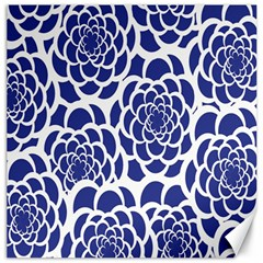 Blue And White Flower Background Canvas 20  x 20