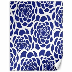 Blue And White Flower Background Canvas 36  x 48