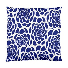 Blue And White Flower Background Standard Cushion Case (One Side)