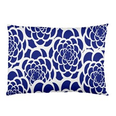 Blue And White Flower Background Pillow Case