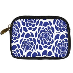 Blue And White Flower Background Digital Camera Cases