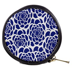 Blue And White Flower Background Mini Makeup Bags