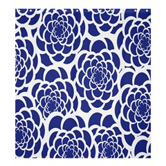 Blue And White Flower Background Shower Curtain 66  x 72  (Large)