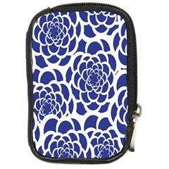 Blue And White Flower Background Compact Camera Cases