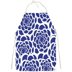 Blue And White Flower Background Full Print Aprons