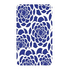 Blue And White Flower Background Memory Card Reader