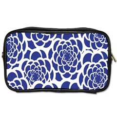 Blue And White Flower Background Toiletries Bags 2-Side