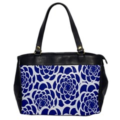 Blue And White Flower Background Office Handbags