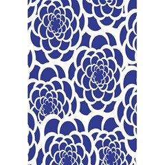Blue And White Flower Background 5.5  x 8.5  Notebooks
