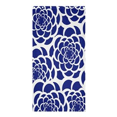 Blue And White Flower Background Shower Curtain 36  X 72  (stall)