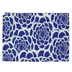 Blue And White Flower Background Cosmetic Bag (XXL)