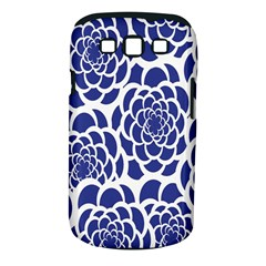 Blue And White Flower Background Samsung Galaxy S Iii Classic Hardshell Case (pc+silicone)