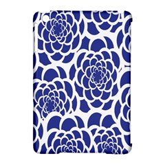 Blue And White Flower Background Apple iPad Mini Hardshell Case (Compatible with Smart Cover)