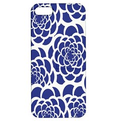 Blue And White Flower Background Apple iPhone 5 Hardshell Case with Stand