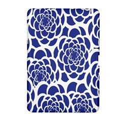 Blue And White Flower Background Samsung Galaxy Tab 2 (10.1 ) P5100 Hardshell Case