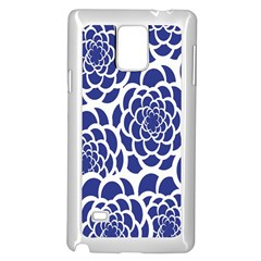 Blue And White Flower Background Samsung Galaxy Note 4 Case (white)