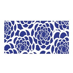 Blue And White Flower Background Satin Wrap