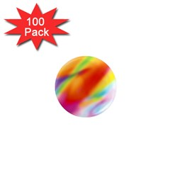 Blur Color Colorful Background 1  Mini Magnets (100 pack)