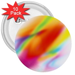Blur Color Colorful Background 3  Buttons (10 pack)