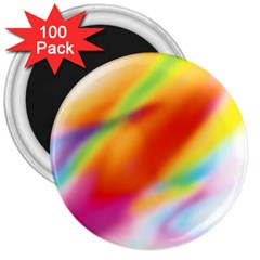 Blur Color Colorful Background 3  Magnets (100 Pack)