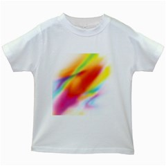 Blur Color Colorful Background Kids White T-Shirts