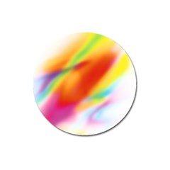 Blur Color Colorful Background Magnet 3  (Round)