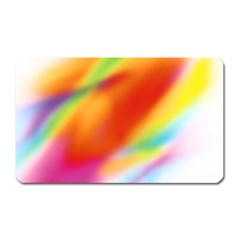 Blur Color Colorful Background Magnet (Rectangular)