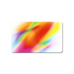 Blur Color Colorful Background Magnet (name Card)