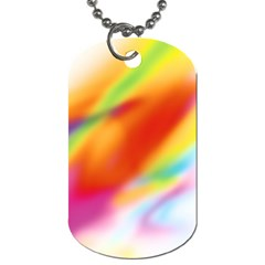 Blur Color Colorful Background Dog Tag (One Side)