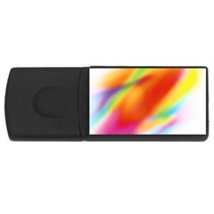 Blur Color Colorful Background USB Flash Drive Rectangular (1 GB)